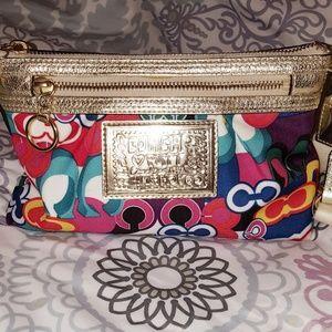 Authentic Coach Poppy Crossbody/Clutch/Shouldr Bag